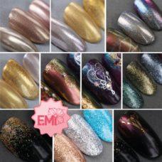 E.Mi — Зеркальный маникюр c глиттерами и пигментами (3 часа)